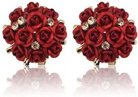 Shining Diva AAA High Quality Floral Gold Plated Stylish Fancy Party Wear Earrings Cubic Zirconia Copper Stud Earring