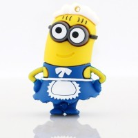 View Microware Cartoon Maid Shape (Blue & Yellow) 16 GB Pen Drive(Yellow, Blue) Price Online(Microware)