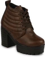 Do Bhai Boots For Women(Brown)
