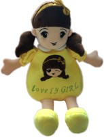 My Baby Excel Lovely Girl Plush Doll Toy Bag with Bow 50 cm (Yellow) - 50 cm(Multicolor)