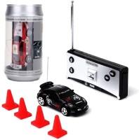 PACIFIC TOYS Mini Coke Can Speed RC Radio Remote Controlled Micro Racing Car (Multicolor)(Black)