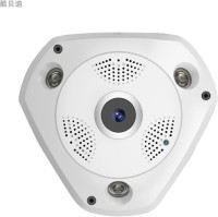 ZVR 960P IP HD VR Camera Panoramic WiFi Network Fisheye 1.44mm 360 Panoramic Wi-Fi Cameras SECURITY Surveillance CCTV Cam support VR BOX (ANDROID AND IOS) 2 IP Camera Camera(White)