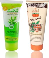 ADS Face Wash 60+12ml and Apricot Scrub 212g(Set of 2) - Price 135 43 % Off