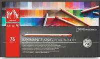 Caran dAche 6901.776 Artist Luminance Round Shaped Color Pencils(Set of 76, Multicolor)