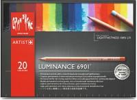 Caran dAche 6901.720 Artist Luminance Round Shaped Color Pencils(Set of 20, Multicolor)