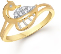 Divastri The Mayur Alloy Cubic Zirconia 18K Yellow Gold Plated Ring