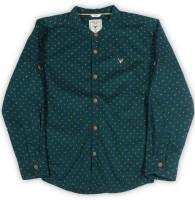 Allen Solly Junior Boys Printed Casual Green Shirt