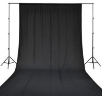 BOOSTY 8 x12 FT BLACK LEKERA BACKDROP PHOTO LIGHT STUDIO PHOTOGRAPHY BACKGROUND Reflector
