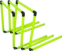 Grazzo Set of 3 Adjustable 4 sizes in one PVC Speed Hurdles(For Children, Adults Pack of 3)