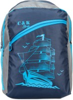 Chris & Kate CKB_105SS Waterproof School Bag(Blue, 27 L)