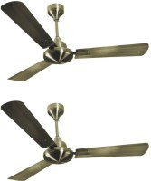 View Havells Orion (pack of 2) 3 Blade Ceiling Fan(Antique Brass) Home Appliances Price Online(Havells)
