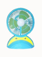 View ROQ Premium Series Portable LED Light with Mini Fan 3 Blade Table Fan(Multicolor) Home Appliances Price Online(ROQ)