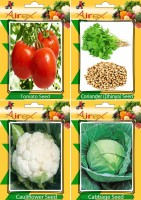 Airex Tomato, Coriander, Cauliflower, and Cabbage Seed(25 per packet)