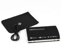 TECHON Velvet Sata Casing Usb 2.0 2.5 inch L (For Laptop Sata upto 1TB, Black) 2.5 inch EXTERNAL HARD DISK(For IDE SERIAL SATA, Black)
