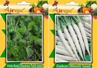 AIrex Holy Basil (Shyama Tulsi), Daikon Seed(15 per packet)