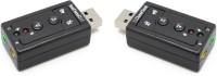 RETRACK SET OF 2PC Virtual 7.1 Channel External USB-Audio Sound Card USB Adapter(Black)
