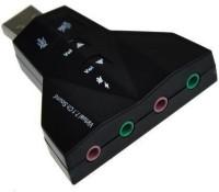 TECHON USB SOUND CARD 3D 7.1 VIRTUAL USB Adapter(Black)