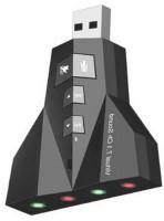 RETRACK Airplane 3D External 7.1 Channel USB-Audio Laptop PC Mac book Sound Card USB Adapter(Black)