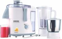 Borosil Primus 500 Juicer Mixer Grinder(White & Grey, 2 Jars)