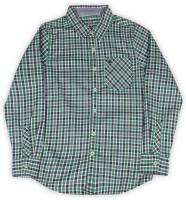 Allen Solly Junior Boys Checkered Casual White, Green, Purple Shirt