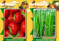 Airex Strawberry, Green Chilli Seed(15 per packet)