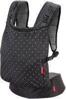Infantino Zip Travel Carrier Baby Carrier(Black, Front Carry facing in)