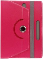 Fastway Book Cover for Lava Ivory M4(Pink, Cases with Holder, Artificial Leather)