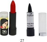 Amura Smart Girl LipStick and Herbal Kajal Dry Pure Bliss Combo(Set of 2) - Price 109 37 % Off