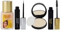 Adbeni Fauve Eyeliner, Mascara, Foundation & Laperla Compact Powder(Set of 4)