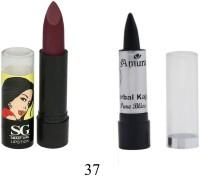 Amura Smart Girl LipStick and Herbal Kajal Dry Pure Bliss Combo(Set of 2)