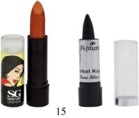 Amura Smart Girl LipStick and Herbal Kajal Dry Pure Bliss Combo(Set of 2) - Price 109 37 % Off