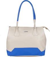 Bern Women Beige, Blue PU Hand-held Bag