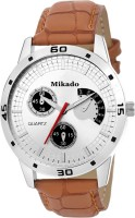 Mikado Delight Fashion tan leather strap and casual Round analog watch for men's and boy's with 1 year warranty Watch  - For Boys