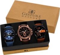 Gesture EXCLUSIVE Combo Of -7800 Elegant Watch - For Men