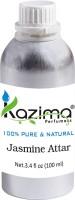 KAZIMA Jasmine Perfume For Unisex - Pure Natural (Non-Alcoholic) Floral Attar(Motia/Jasmin)