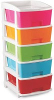 Wud Kraft Plastic Free Standing Chest of Drawers(Finish Color - multicolor)