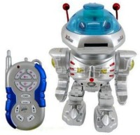 Mahvi Toys Radio Remote Controlled Dancing Robot With R/C Missile Disc Launcher(Silver)