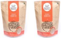 Ancient Wisdom 2 packs of Organic Brown Sonamasuri Rice Brown Sona Masoori Rice (Medium Grain)(2 kg)