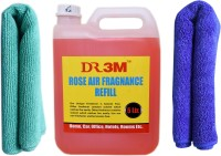 DR3M ROSE AIR FRESHENER REFILL 5Ltr. + 2 PC MICROFIBER CLOTH NEW PACK -2011/2012/2013/2014/2015/2016 Vehicle Interior Cleaner(5 L)