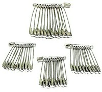 Shop & Shoppee Standard Safety Pins for Girls and Women Set of 100 Back Pin(Silver) - Price 145 27 % Off