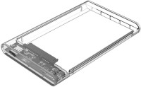 Orico 2.5 inch Type-C Hard Drive Enclosure (2139C3) 2.5 inch External Hard Drive Enclosure(For Windows 2000 / XP / 7 / 8 / 10, Linux, Mac OS 9.1 or above, Transparent)