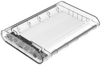 Orico 3.5 inch Type-C External Hard Drive Enclosure (3139C3) 3.5 inch External Hard Drive Enclosure(For Windows 2000/XP/7/8/MAC 9.1 and above/Linux, Transparent)