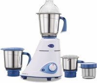 Preethi Blue Leaf Silver 600 Mixer Grinder(blue and white, 3 Jars)