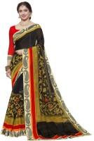 Gugaliya Self Design Paithani Cotton Linen Blend Saree(Multicolor)