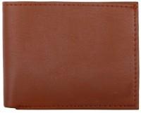 OODI Men Brown Genuine Leather Wallet(10 Card Slots)