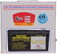 View Maxine CFL HOME UPS with 12v, 7Ah EXIDE Battery - 45w Square Wave Inverter Home Appliances Price Online(Maxine)