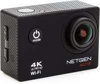 NETGEN N A Action Camera 4k Ultra HD Waterproof with 25 Accessories includes Car Mount Carry Bag Control Watch Sports and Action Camera(Black 16 MP)