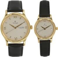 Titan 15802490YL04 Bandhan Analog Watch For Couple