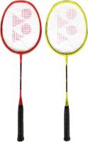 Yonex ZR 100 Orange + Yellow (Set of 2) Orange, Yellow Strung Badminton Racquet(Pack of: 2, 95 g)