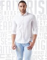 Metronaut Men Solid Casual White Shirt